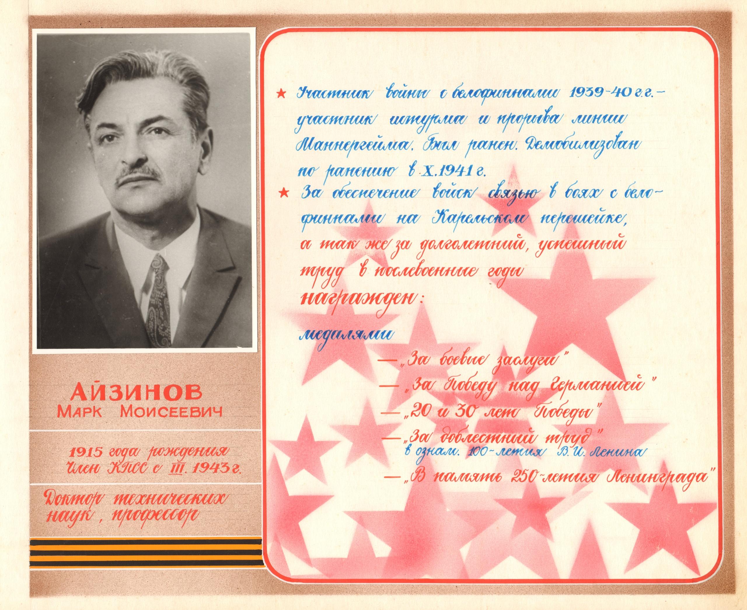 Айзинов Марк Моисеевич